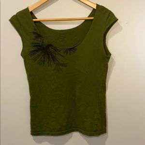 A green classic girl American Apparel top.